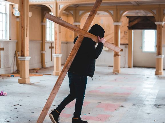 Jesus carried the cross throughout his earthly life